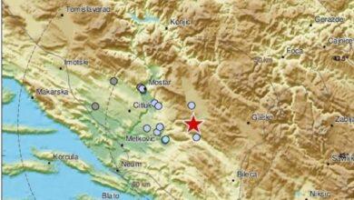 Photo of Epicentar  jutrošnjeg zemljotresa kod Stoca