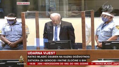 Photo of POTVRĐENA PRVOSTEPENA PRESUDA RATKU MLADIĆU
